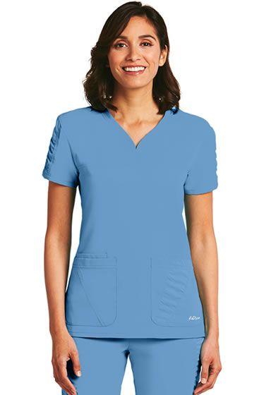 KD110 Jr. Fit 3 Pocket Women's Sweetheart V-Neck Top.  Shop the full KD110 collection now: http://www.nationalscrubs.com/KD110-Barco-Uniform-Scrubs-s/120576.htm