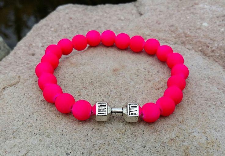 POLODRAHOKAMOVÉ náramky | FIT náramok neon pink | štýlové náramky na každú ruku