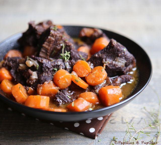 Daube de joue de boeuf aux carottes