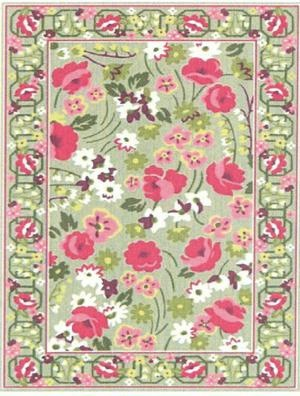 Vera Bradley Make Me Blush Rug Goes Splendidly With My Green Pink Accent Color Scheme