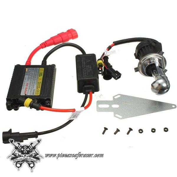 17,35€ - ENVÍO GRATIS - Kit Xenon de Conversión Para Faro de Moto 12V 35W 6000K H4 HID Largas/Cortas