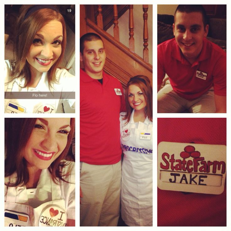 I Was Flo And Jake Was Jakefromstatefarm What Are You Wearing Jake From State Farm Cute And So Easy Couples Costumes Holidays Halloween Halloween Party