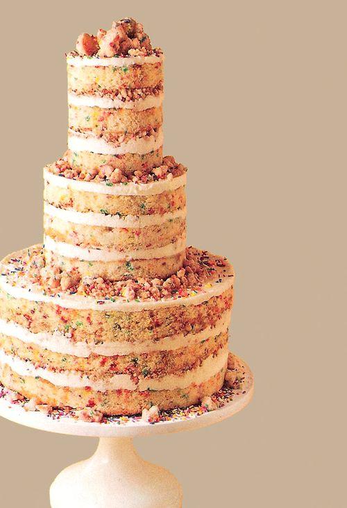 No Icing Confetti CakeEat CakeWedding