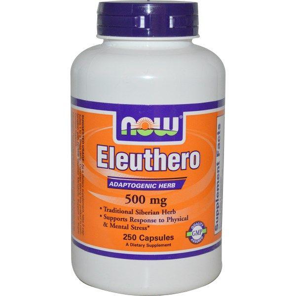 Now Foods, Eleuthero, 500 mg, 250 Capsules