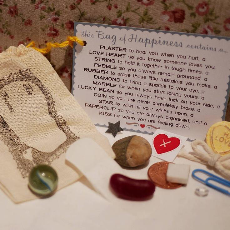 Wedding Gift Bag Poems : gift little bag of happiness happiness wedding gifts favours gifts ...