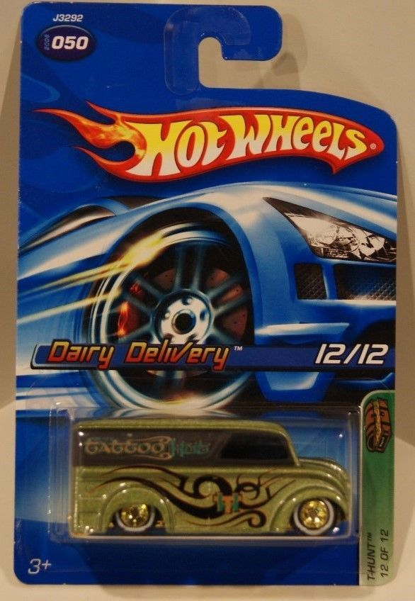 Sell Your Car Online >> 2006 Hot Wheels Treasure Hunt #12 Dairy Delivery MOMC Real Riders OLD CARD | HOT WHEELS DAIRY ...