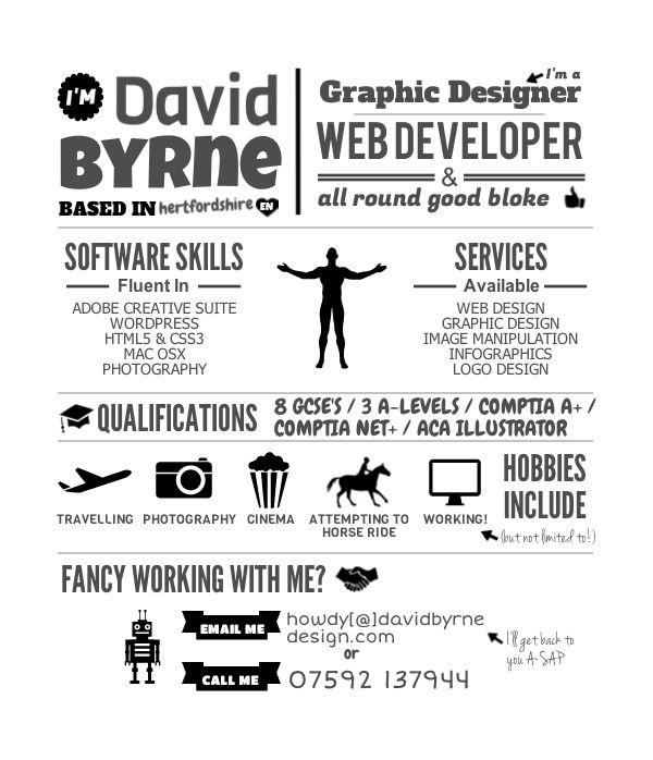 59 best Infographic Design Creative CVs images on Pinterest - gui designer resume