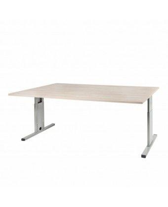 Rechthoekig bureau 160 x 80 cm T-Line .  Compact recht bureau uitgevoerd in 6 standaard blad kleuren en onderstel kleuren. Bladen zijn 25 MM en afgewerkt met een melamine toplaag.