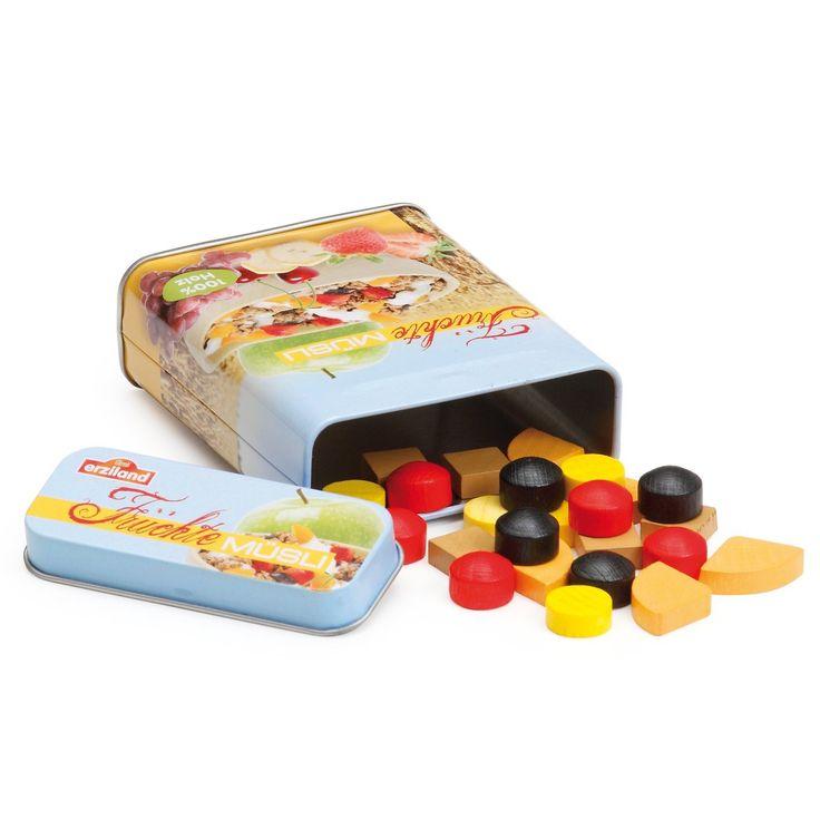 Erzi Müsli in der Dose, Spielzeug-Müsli, Holz-Müsli, Kaufladenzubehör: Amazon.de: Spielzeug