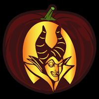 Maleficent 02 CO - Stoneykins Pumpkin Carving Patterns and Stencils