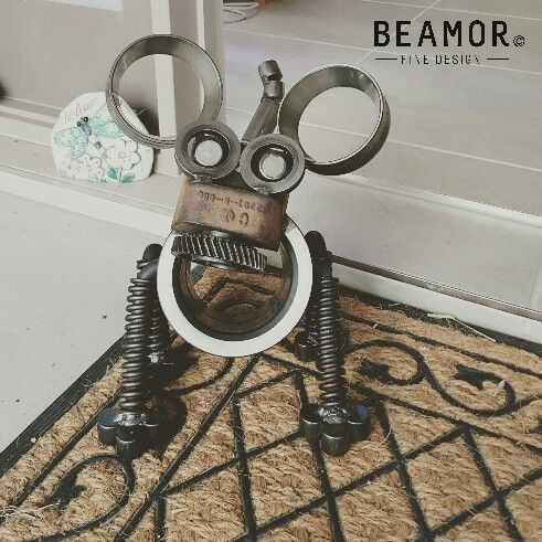 Monkey dog. Upcycled from local mining machinery parts creative@beamor.com.au www.facebook.com/beamorfinedesign