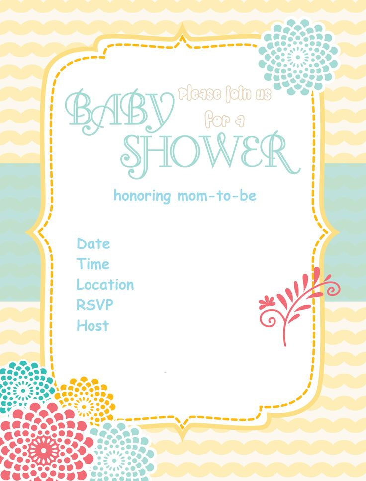 Free-baby-shower-Invitation-sunshine-flower via  www.babyshowerideas4u.com