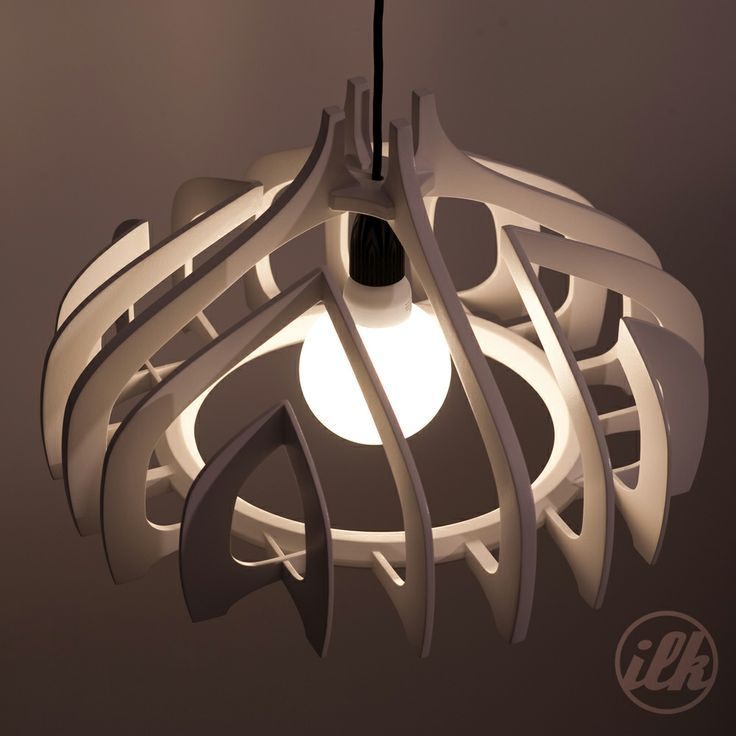 cnc, plywood, white, pendant light. it can be found on http://ift.tt/1QK6Aqs: 1…