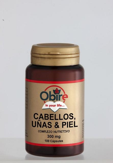 Cabellos, uñas y piel 100 cápsulas de 300 mg Obire imágenes  $6.10  elpozodelasalud.es