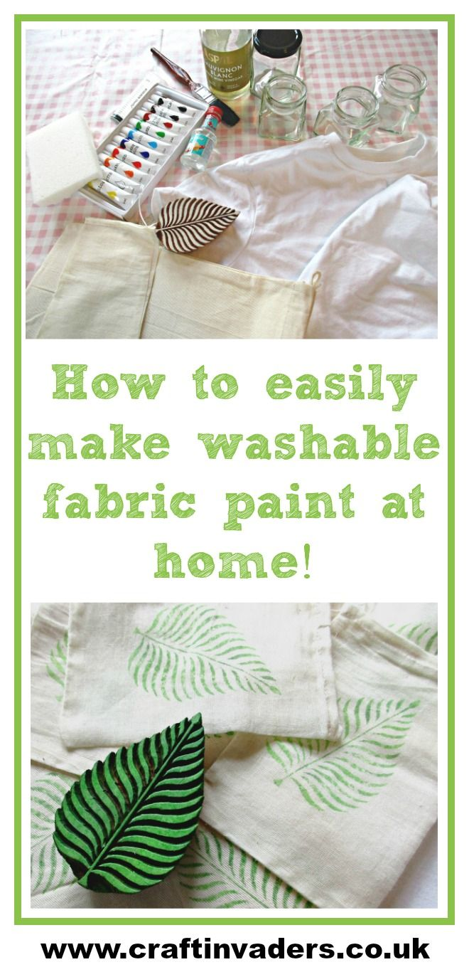 How To Make Brilliant Diy Fabric Paint At Home Acrylic Paint On