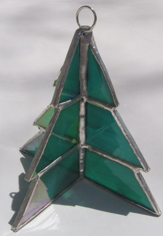 Nice Christmas Stained Glass Ornaments Part - 7: Stained Glass 3D Christmas Tree Ornament By Wjoydesigns On Etsy, $20.50