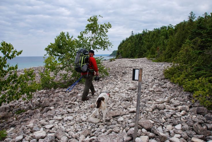 The Bruce Trail, cobble beach in Tobermory