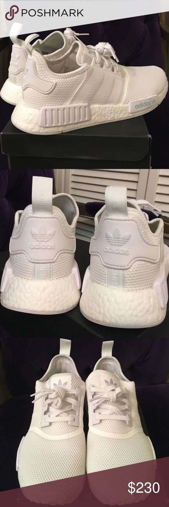 Adidas NMD White (Men) BRAND NEW - Originals Adidas NMD for Men / BRAND NEW / Never been used / ORIGINALS / White on White : Size 9 COMES IN ORIGINAL BOX Adidas Shoes Athletic Shoes