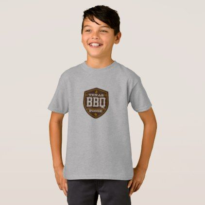 #Boys t-shirt - Texas BBQ Posse Logo - #cool #kids #shirts #child #children #toddler #toddlers #kidsfashion