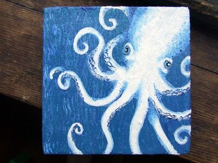 Elseetee's Little Chunky Octopus featured on Etsy Item of the Day. So cute.....wondering about water color resist?