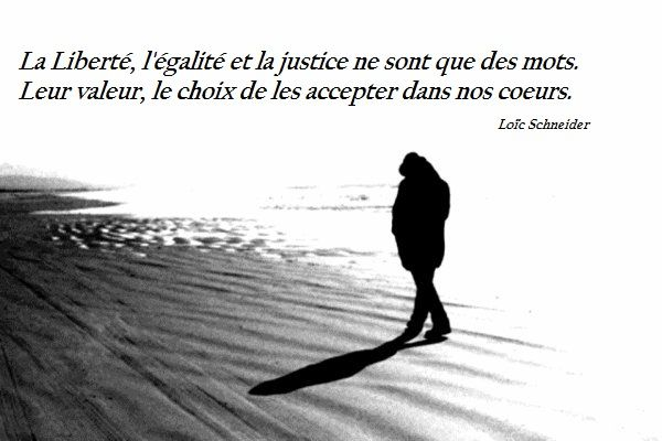 La libert l 39 galit et la justice ne sont que des mots leur val - Citation sur la justice ...