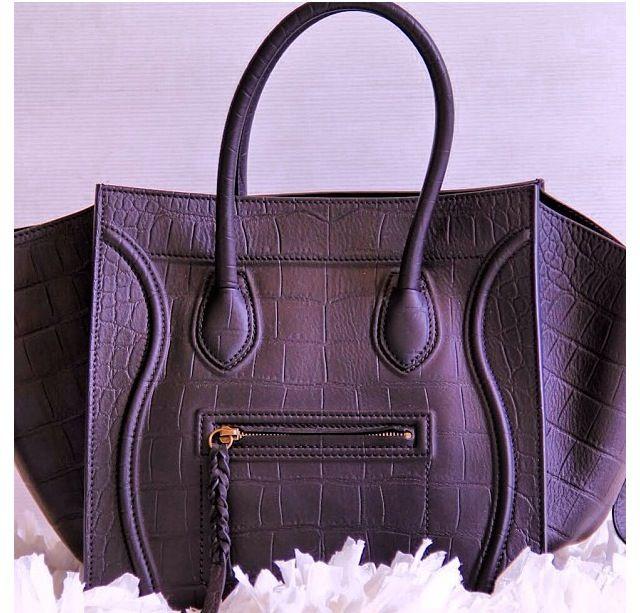 2f9312889b celine phantom bag exotic leather dark blue