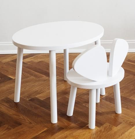 Nofred Mouse chair and table in white