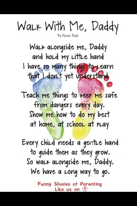 Fathers Day Poems From Toddlers | Father's Day Ideas | Father's ...