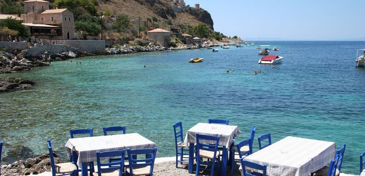 What about a glass of ouzo close to the sea?