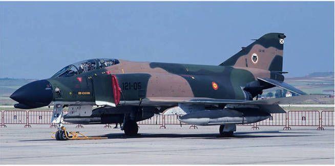 Un F-4 de las fuerzas armadas españolas.