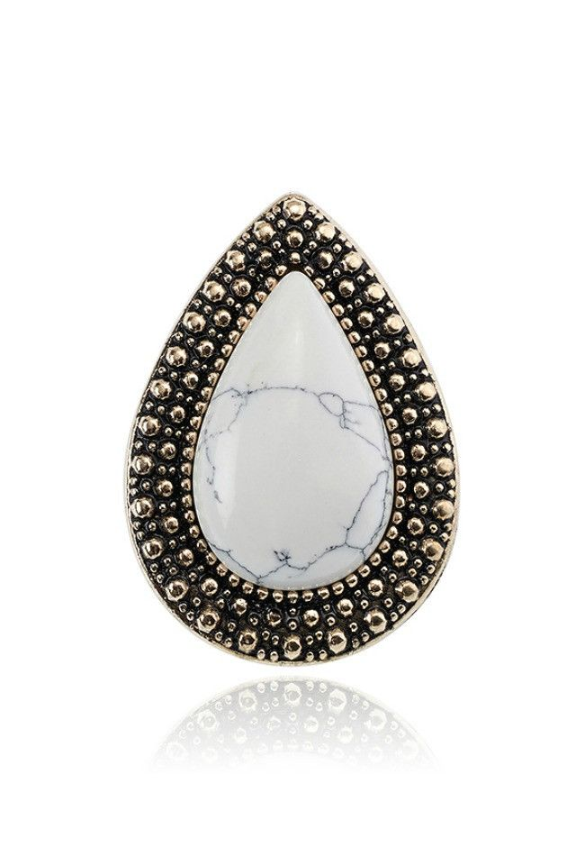 Samantha Wills Bohemian Bardot Ring - White Howlite AUD$79.00 available at www.carouselbondi...