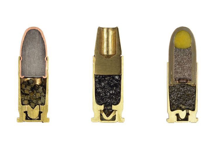 Detailed Cross-Sections of Ammunition