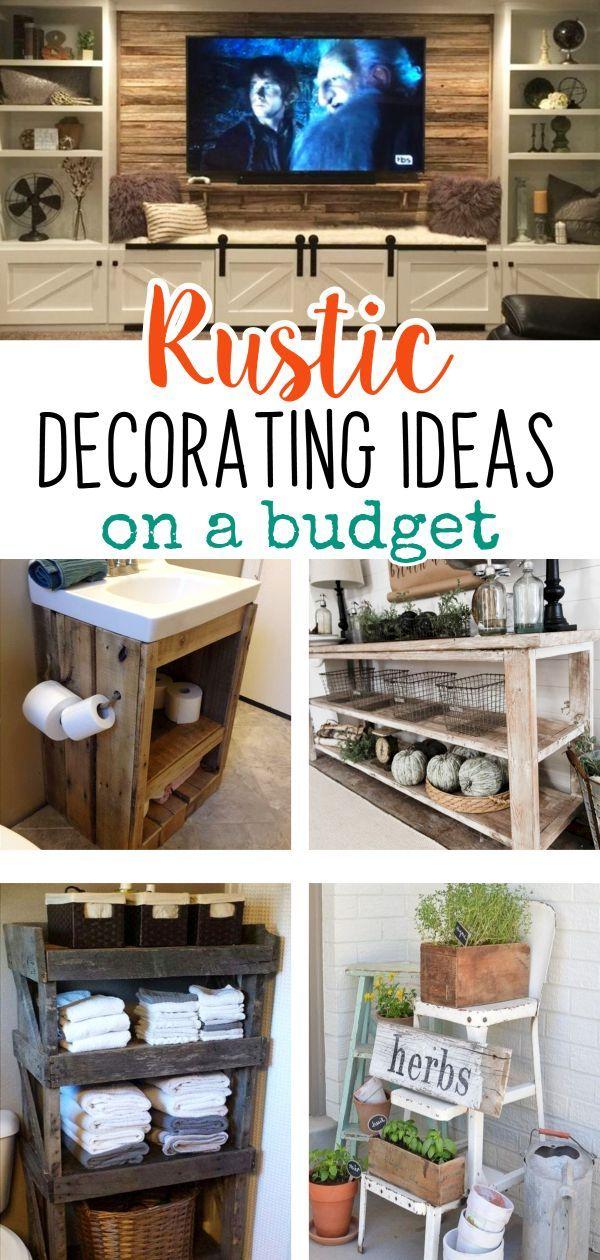 Diy Rustic Decorating Ideas On A Budget Rustic Living Room Decor Ideas Easy Diy Ideas For Ki Living Room Decor Rustic Diy Rustic Decor Shabby Chic Farmhouse