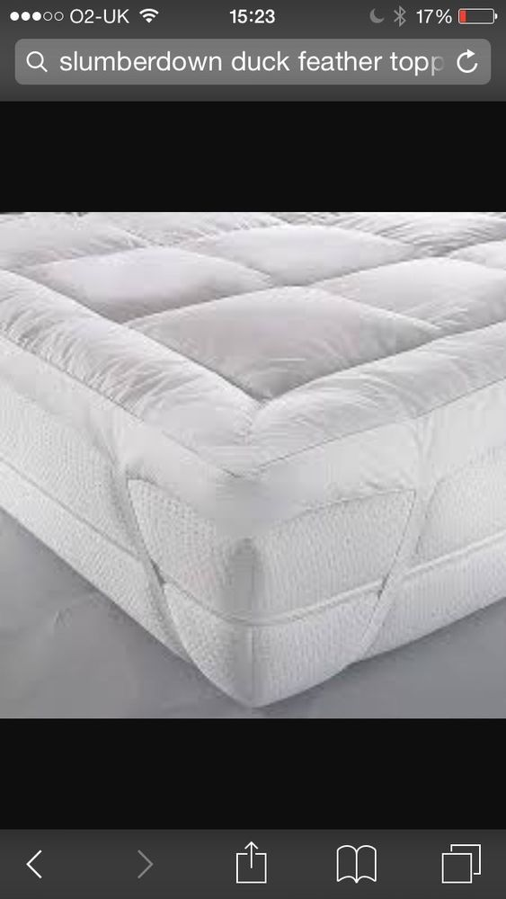 slumberdown luxury duck feather king size bed extra thick mattress topper