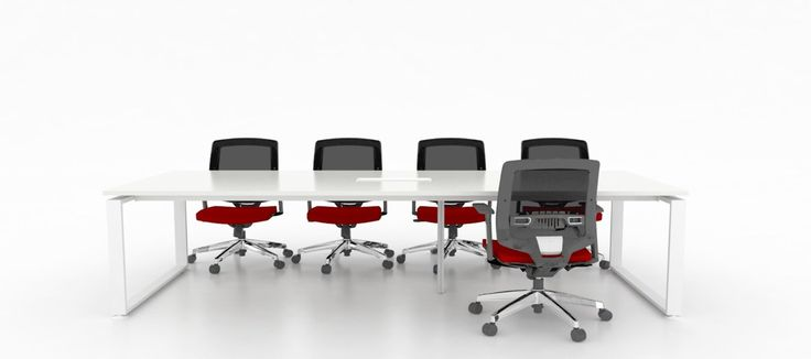 Office meeting design. This flexible meeting table system is all about modern connectivity and flexibility.  Wholesale inquires @howimports #workstation #sqStation
