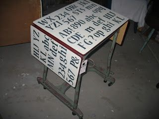 Shabby Redo For You !:  Vintage Typewriter Table Redo-- Just My Type!!