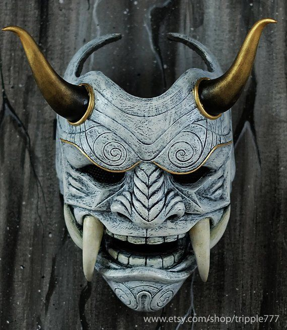 Hannya Kabuki Samurai Assassin Demon Oni BB mask Demon Oni costume