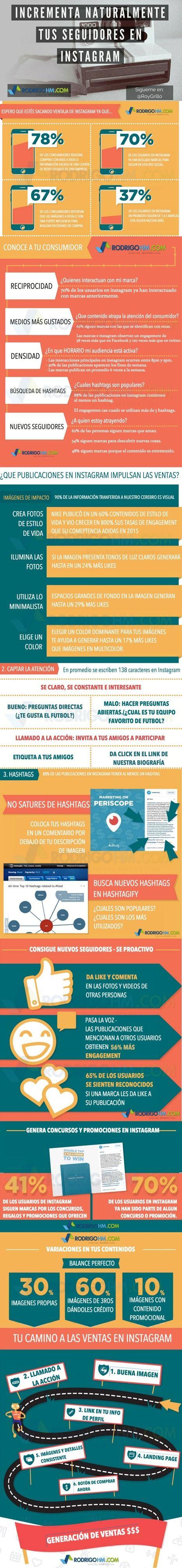 Cómo aumentar tus seguidores en Instagram #infografia #infographic #socialmedia   Redes sociales y Social Media   Scoop.it