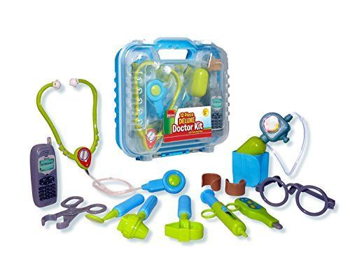 Toy Medical Kits - Durable Kids Doctor Kit with Electronic Stethoscope and 12 Medical Doctors Equipment Packed in a Sturdy Gift Case * Check out this great product.