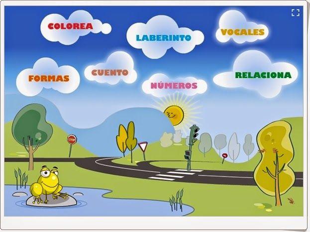 """""""Aprende jugando"""" es una aplicación de la Dirección General de Tráfico de España que tiene como centro la familiarización con los elementos propios de la educación vial y, en torno a él, aparecen actividades interactivas sobre números, vocales, formas, etc."""