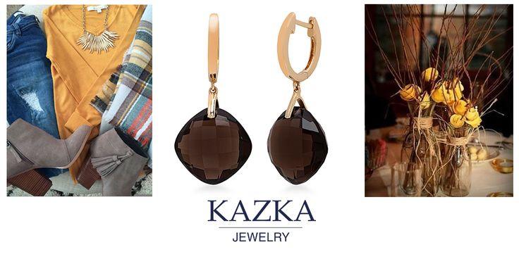 Скучаете за осенними образами? Мы тоже (: Сегодня выбрали для вас золотые серьги с коричневым кварцем. Теплые оттенки напомнят о желтых листьях и горячем шоколаде в осеннем парке.  Приобрести со скидкой за 7 310 грн. http://kazka.ua/zolotie-serezhki-1s034-0945-1s034-0945/  #kazkajewelry   #украшения_kazkajewelry   #jewelry   #украшения   #золото