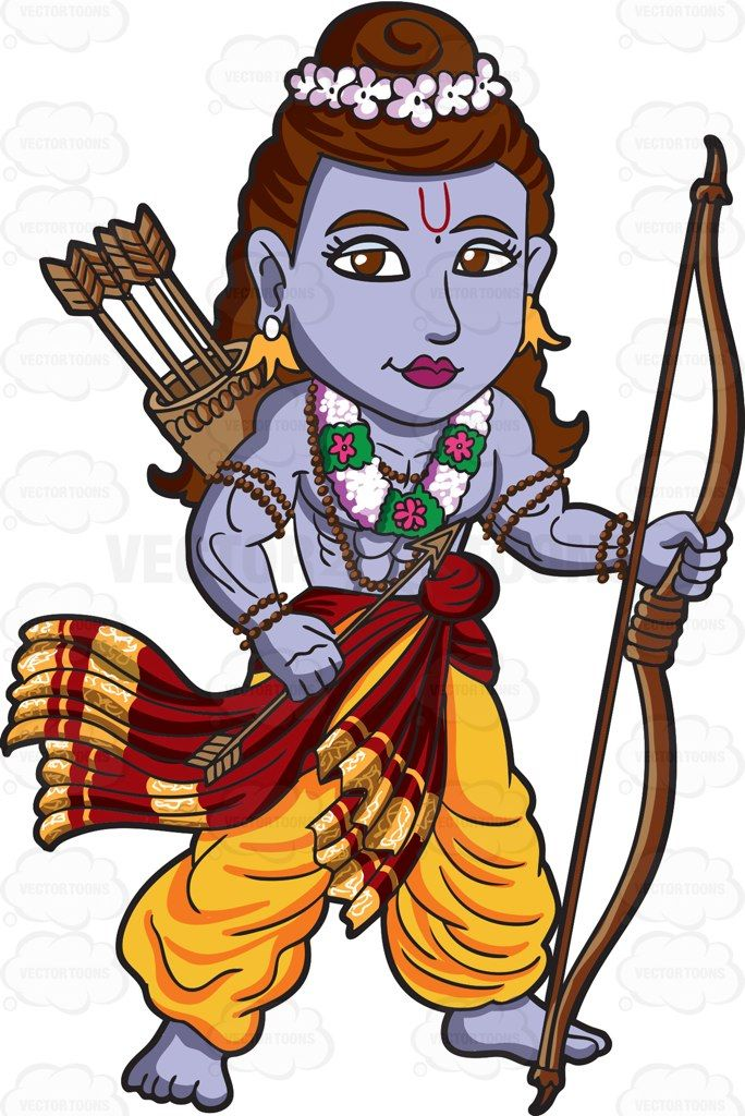 The Hindu God Rama #cartoon #clipart #vector #vectortoons ...