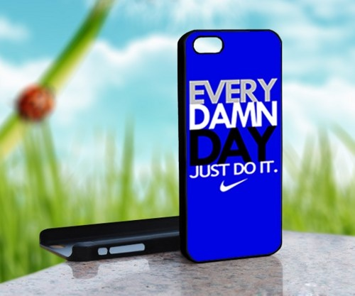 EVERY DAMN DAY Just Do It Nike - Photo On Hard Cover For iPhone 4,4S