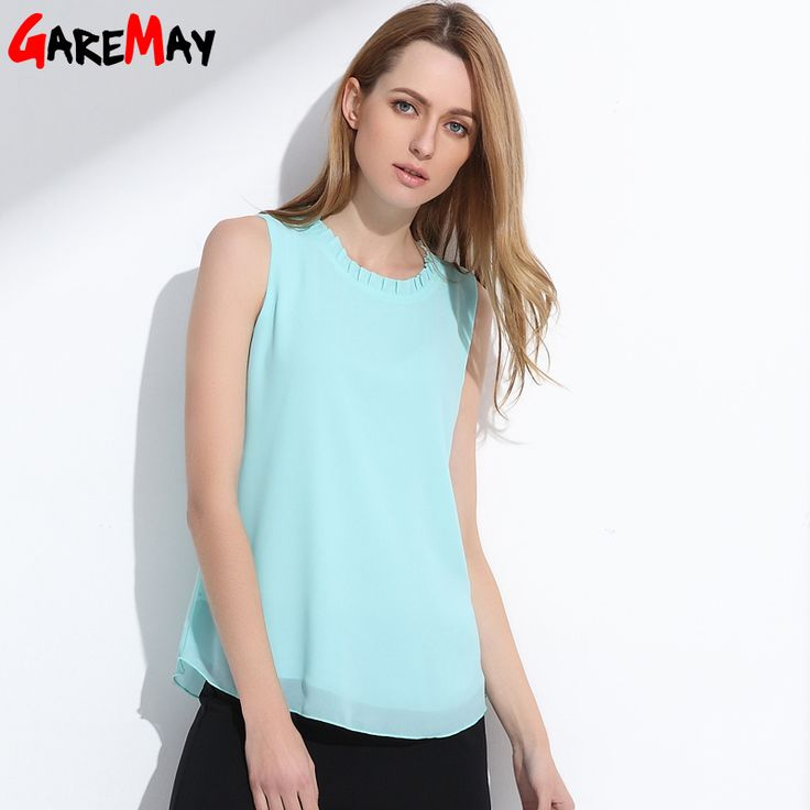 GAREMAY Shirt Women Summer Chiffon Tops White Sleeveless Blouses For Women Clothes Ruffle Elegant Vintage Feminine Shirts T098 Buy now for $ 9.99 & get FREE Shipping worldwide    #f4f #tbt #followme #like4like #shopping #fashion #style #shoppingaddict #followme #musthave #ootd #fashionmodel