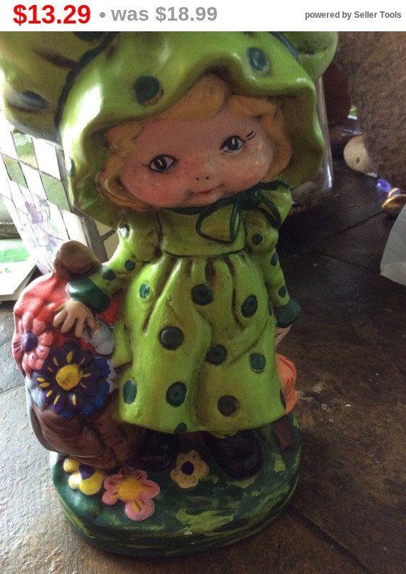 Little big head green doll ceramic doll freckles green by EMTWTT