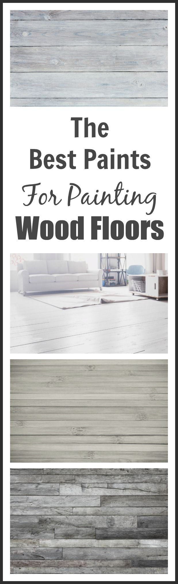 How to paint wood floors that are too damaged to be refinished ...