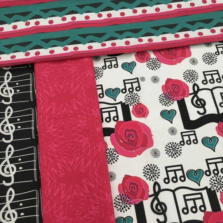 Music books fabric design