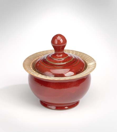 A Stoneware Jar in Copper Red Glaze. www.donnzver.com