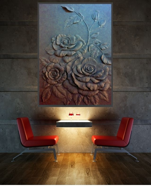 Bas-relief in an interior in Loft style Барельеф в интерьере стиля лофт