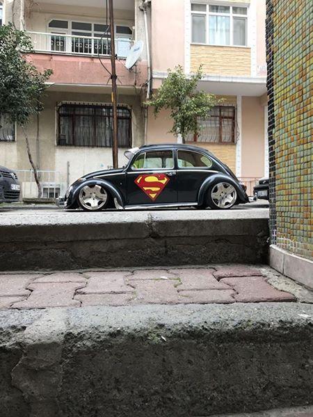Vw Beetle Black Superman  |  Vosvos #cars #super #retro #black #chrome #wheels #days #photo #love #art #good #like #instagram